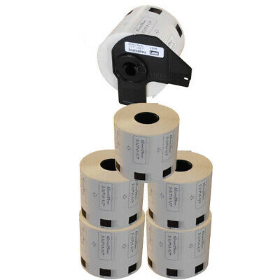 AFTERMARKET 5+1 ROLLS DK11209 SMALL ADDRESS LABELS 29x62mm FOR BROTHER DK 11209