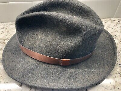 edc993e1765f5 Vintage Pendleton 100% Virgin Wool GRAY Fedora Hat Size Medium Or ~7