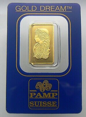 "2.5 Gram ""gold Dream"" Pamp Suisse 24K Gold Bar .9999 Bar #144409"