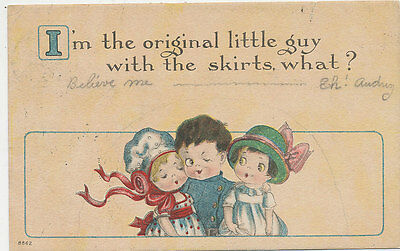 C4022 1915 Postcard Comic Humour Children