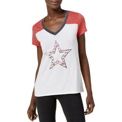 ebea834ce Tommy Hilfiger Sport Womens Graphic Star Colorblocked T-Shirt Top BHFO 5973