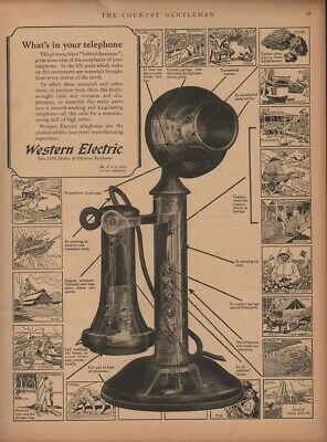 1923 Western Electric Telephone Communication Transmitter Home Talk Cord 19022
