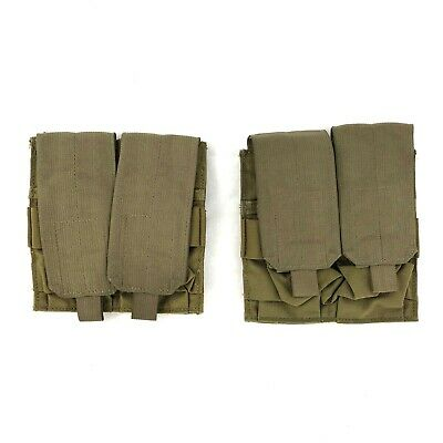 Eagle Industries Military Mag Pouch, Double 2x2 Magazine Khaki SFLCS, 2 PACK
