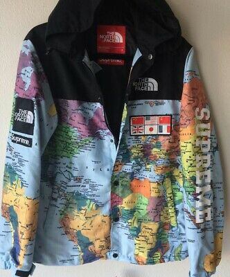 Supreme x Northface Collab World Map Brand New Size L with Tags 25642a666