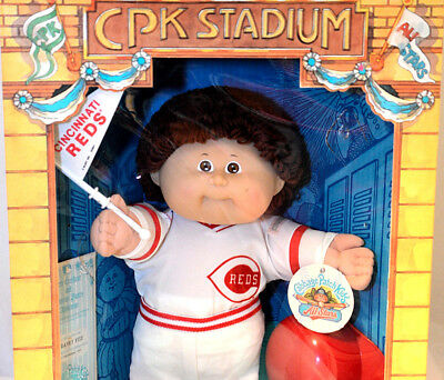 Cabbage Patch kids All Stars doll Cincinnati REDS Baseball CPK NRFB 1986 Coleco