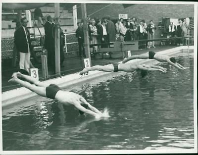 Swimming championships at Yarmouth Pool - Vintage photo