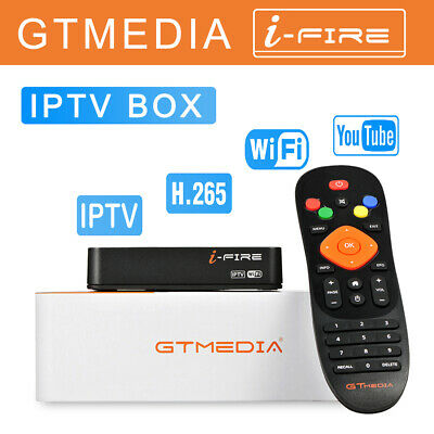 GTMEDIA I-FIRE Built in 2.4G WiFi Full HD 1080P H.265 Ethernet TV Box By Freesat