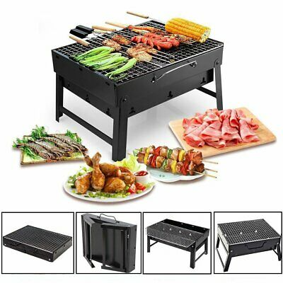 Portable Charcoal BBQ Grill Outdoor Garden Folding Barbecue Stove Patio Camping