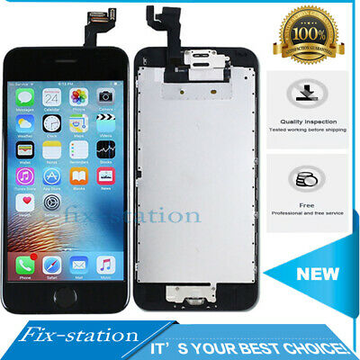 For iPhone 6S LCD Screen Touch Digitizer Display Replacement Button Camera Black