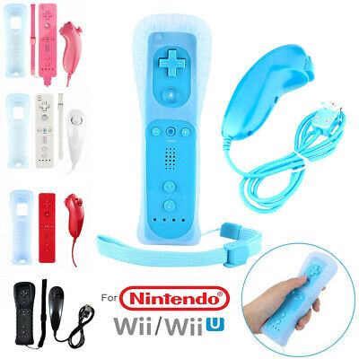 Remote and Nunchuck Controller WITH SILICONE CASE for NINTENDO WII UK STOCK