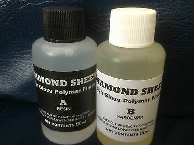 DIAMOND SHEEN 2 Part High Build Polymer Decoupage Varnish, Epoxy