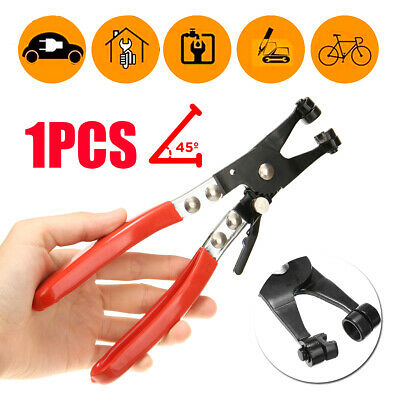 45° Swivel Jaw Locking Car Pipe Hose Clamp Pliers Fuel Coolant Clip Tool Kit