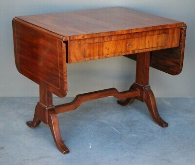 Antique writing desk Regency extension table inlaid mahogany 1 drawer 1825