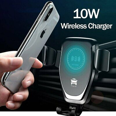 Qi Wireless Automatic Clamping Fast Charging Car Charger Mount Holder Stand New