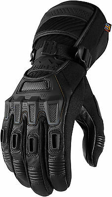 Icon Raiden Alcan Waterproof Motorcycle Motorbike Touring Gloves All Sizes