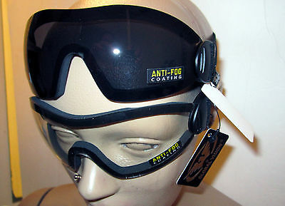 2 Motorcycle Skydiving Goggles Googles Airsoft Padded Cycling Golf Clear Smoke