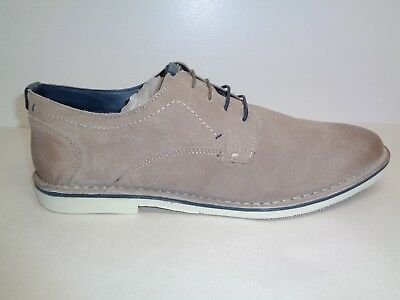 f927bfdc9cb Steve Madden Size 8 MADRID Beige Suede Lace Up Casual Oxfords New Mens Shoes