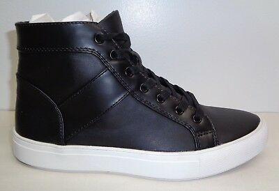 f65cca3fdd8 Steve Madden Size 13 M THEO Black High Top Fashion Sneakers New Mens Shoes