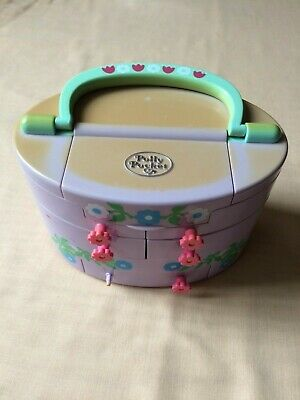 POLLY POCKET Mallette Maquillage Maison 4 Personnages 1991 BLUEBIRD TOYS MATTEL