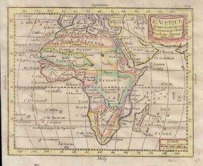 1783 Attractive Buffier Map of Africa