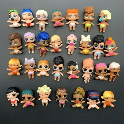 5pcs Lol Surprise Doll Lil Sisters LIL M.C. Swag CHEER CAPTAIN ROLLER SK8ER