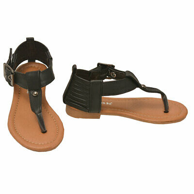 a10256a30214a KALI GIRLS GLADIATOR Flat Sandals Icy (Toddler 8 9 10, Youth 11 12 ...