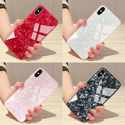 Luxury 3D Marble Tempered Glass Case Cover For iPhone X XS XR Max 8 7 6 6s Plus