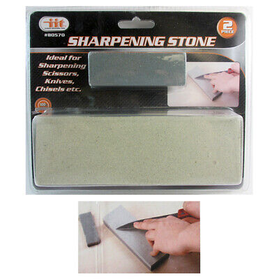 "2 Pc 6"" Aluminum Oxide Sharpening Stone Dual Grit Hone Knife Sharpener Fishing"