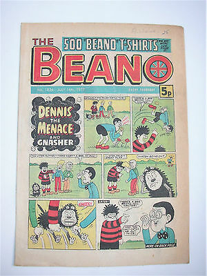 Vintage Beano Comic No.1826 July 16th,1977 – 40 years old! Top Birthday Gift!