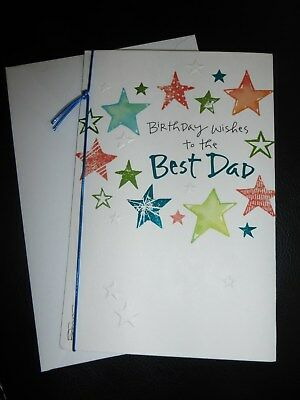 American Greetings Card Happy Birthday Best Dad Embossed Stars By Kathy Daivs