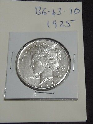 1925  PEACE Silver Dollar  YOU WILL GET WHATS IN THE PICTURES. (BG-63-10)