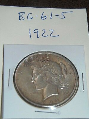 1922 PEACE Silver Dollar YOU WILL GET WHATS IN THE PICTURES.(BG-61-5)