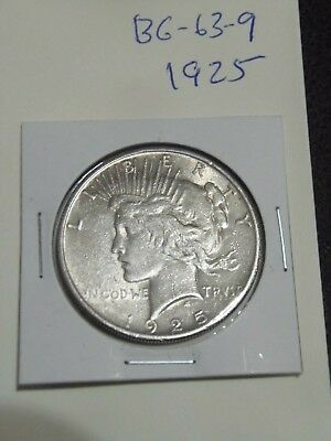 1925  PEACE Silver Dollar  YOU WILL GET WHATS IN THE PICTURES. (BG-63-9)