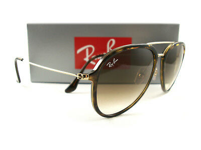 1a7b88b7703 New Ray-Ban Sunglasses RB4298 Tortoise Gold Brown Gradient 710 51 Authentic
