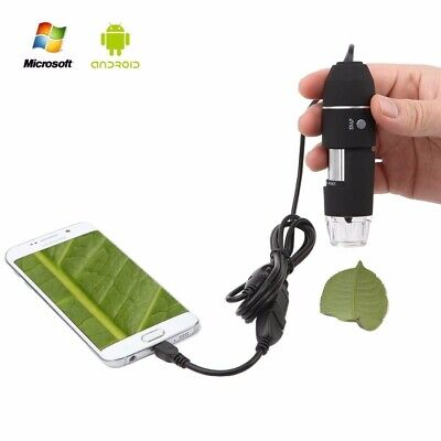 1000X/1600X 8 LED USB Zoom Digital Microscope Hand Held Biological Endoscope USA
