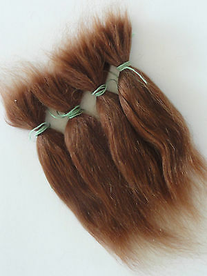 Long MOHAIR for rooting- REBORN Doll making supplies 30g (+ 1ounce) Color Red