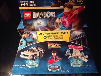 Lego Dimensions Back to the Future Level Pack 71201 Marty Delorean Time machine