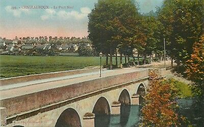 Cp Chateauroux Pont Neuf