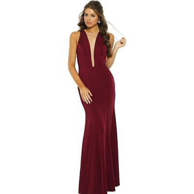 df8e64a80c JVN by Jovani Womens 59336A Red Prom Illusion Evening Dress Gown 4 BHFO 2969