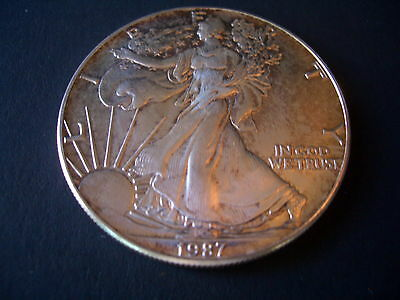 1 Oz 1987 American Silver Eagle Coin .999 Pure Bullion Us Mint Issue