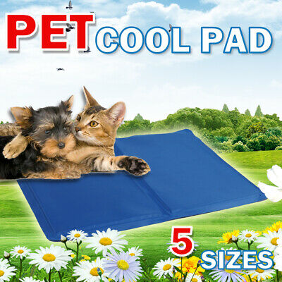 Pet Cooling Mat Non-Toxic Cool Pad Bed Dogs Cat Puppy Cushion Summer Heat Relief
