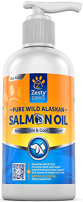 Zesty Paws Pure Wild Alaskan Salmon Oil for Dogs & Cats - Supports Joint Immune
