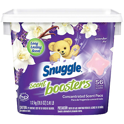 Snuggle Laundry Scent Boosters Concentrated Scent Pacs, Lavender Joy, Tub, 56