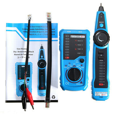 Cable Tester Wire Tracker Network Telephone Line Tracer Toner LAN Phone   AU