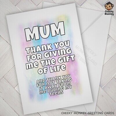 Birthday Mothers Day Card Favourite Joke Funny Humour