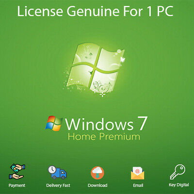 Genuine windows 7 HOME PREMIUM 32 & 64 BIT Download Activation