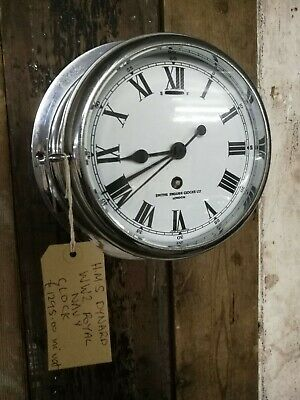 Reclaimed HMS Dynard WW2 Royal Navy Smiths London English Clock - Warwick Rec