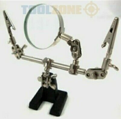 Helping Hands Third Hand Soldering Clamps Magnifier Glass Aid Free Grabber Tool