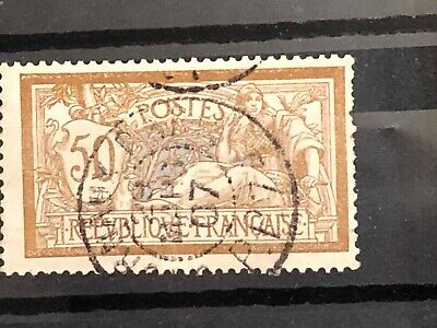 5 FRANCE 1900 type MERSON 50 cts N° 120 cachet journaux