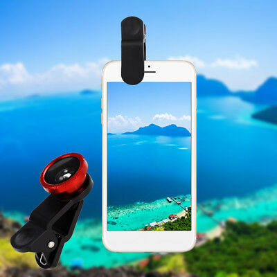 3in1 Wide Angle+Fish Eye+Macro Clip On Camera Lens Kit For Universal Smart Phone